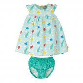 Frugi Dolly Muslin Outfit Origami Vögel 6-12 Monate