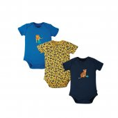 Frugi Kurzarm-Body Big Cat versch. Farben
