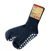 Hirsch Natur Stoppersocken Wolle 23-24 tweed-marine